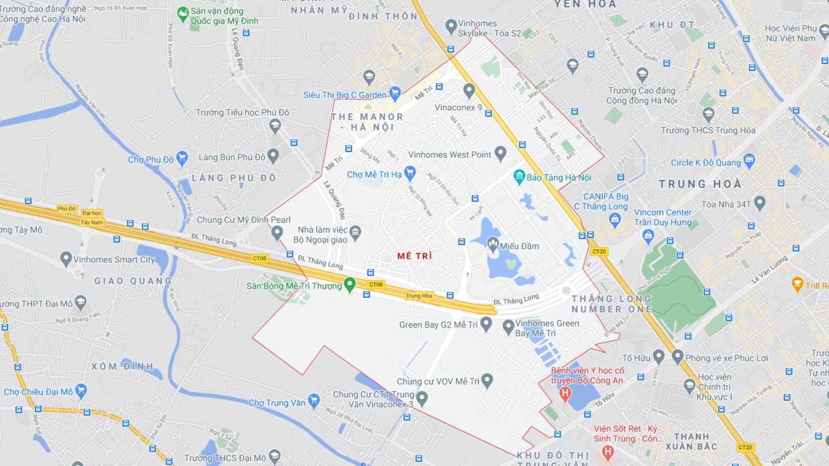 Đất dính quy hoạch phường Mễ Trì, Nam Từ Liêm, Hà Nội - Ảnh 1.