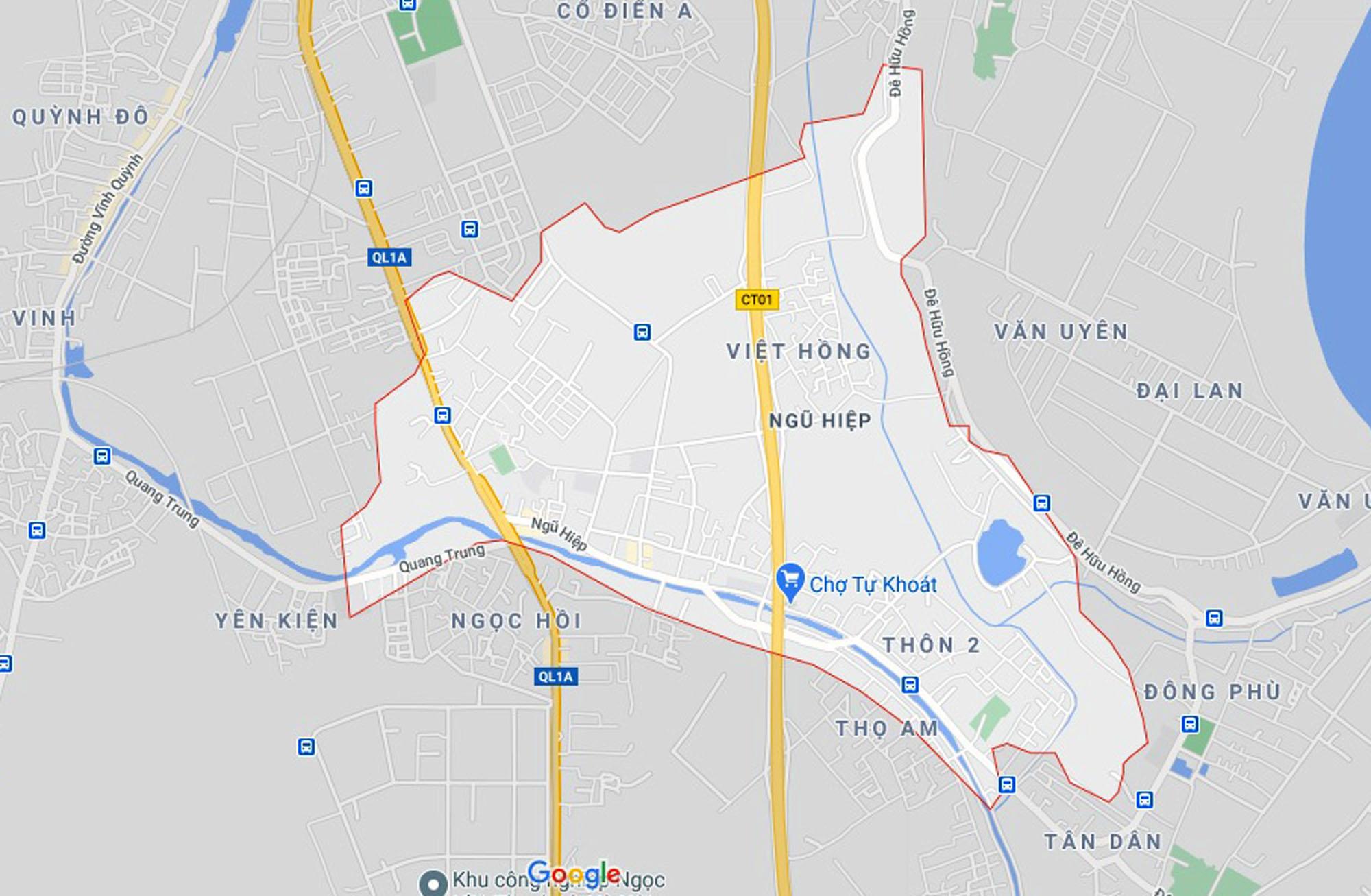 đường sẽ mở theo quy hoạch ở xã Ngũ Hiệp, Thanh Trì, Hà Nội - Ảnh 1.