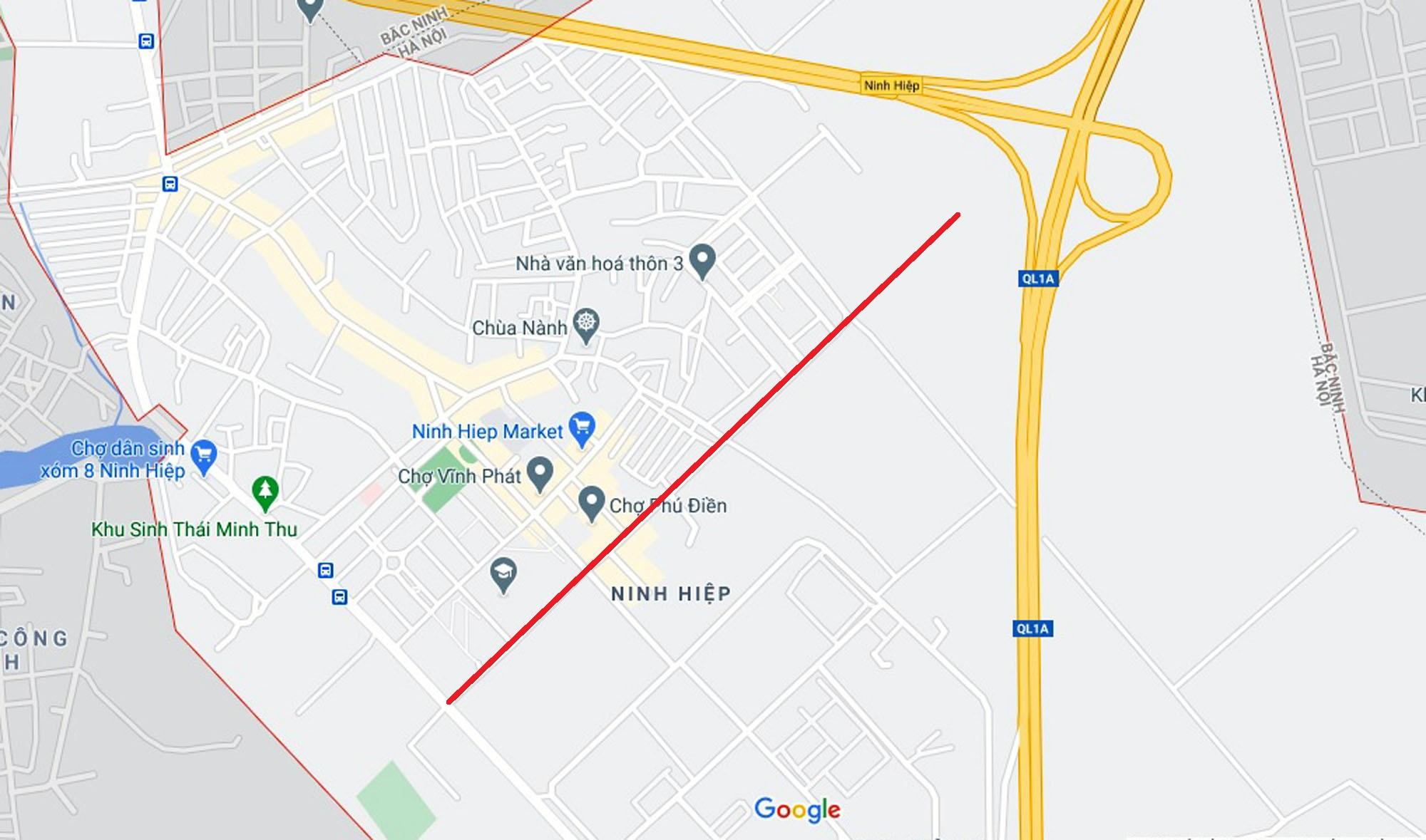 Ba đường sẽ mở theo quy hoạch ở xã Ninh Hiệp, Gia Lâm, Hà Nội - Ảnh 2.