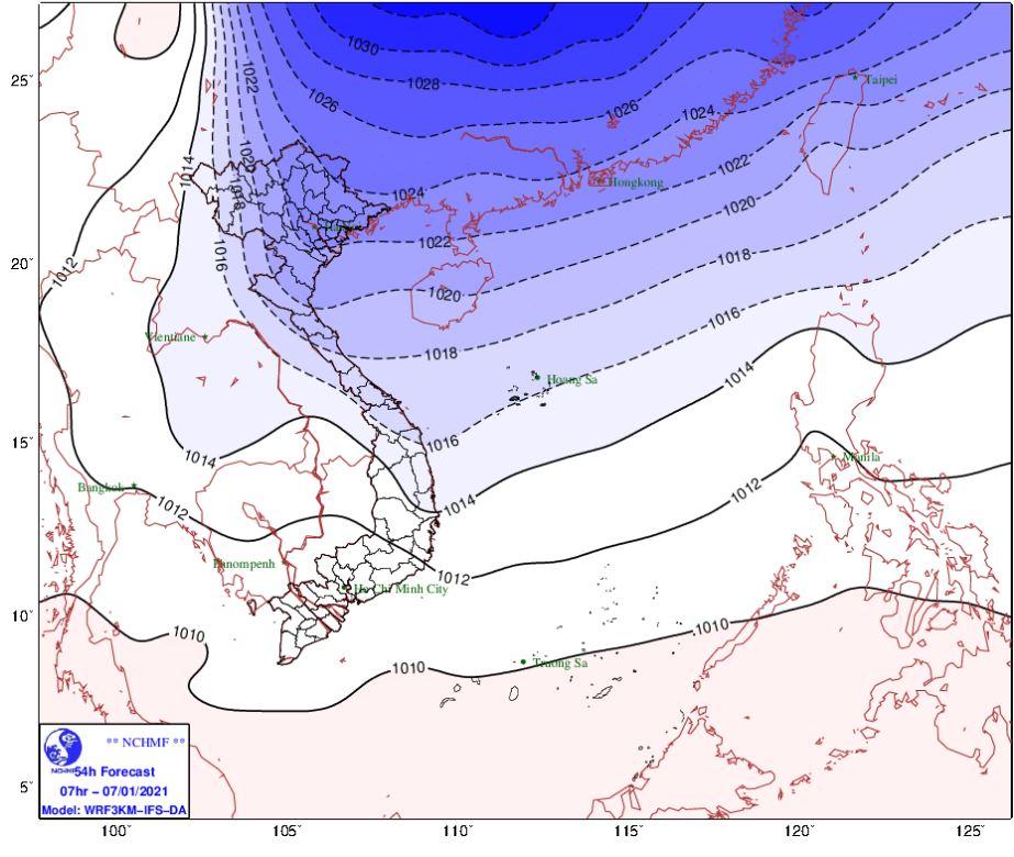 Thời tiết Hà Nội hôm nay 7/1: Mưa nhỏ, đêm nay không khí lạnh tăng cường trời chuyển rét hại - Ảnh 1.