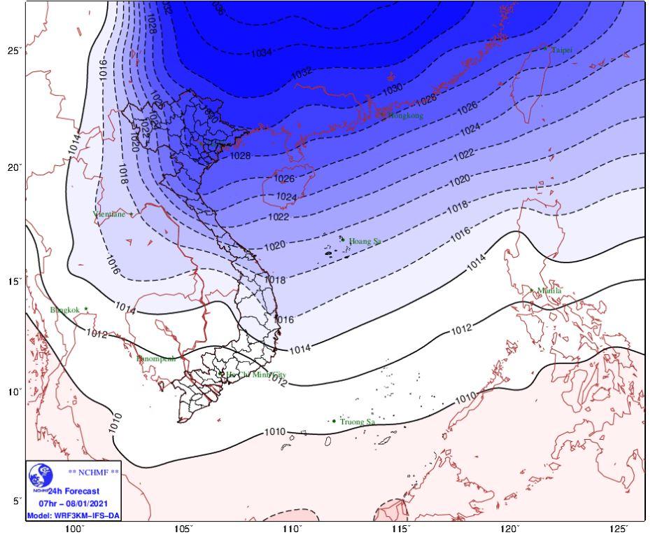 Thời tiết Hà Nội hôm nay 8/1: Không khí lạnh mạnh tăng cường gây rét đậm, rét hại dưới 10 độ - Ảnh 1.