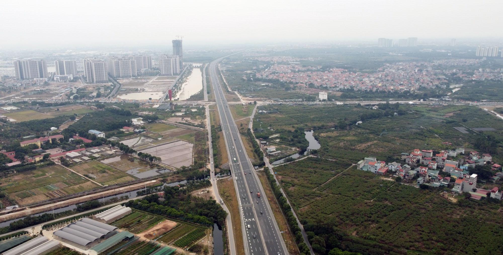 Cận cảnh nút giao đường Vành đai 3 với cao tốc Hà Nội - Hải Phòng trị giá 400 tỷ đồng - Ảnh 9.