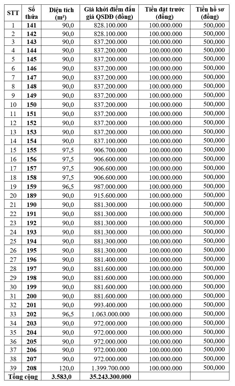 Lạng Sơn đấu giá 39 thửa đất tại thị trấn Nông Trường Thái Bình, khởi điểm từ 828 triệu đồng/thửa - Ảnh 1.