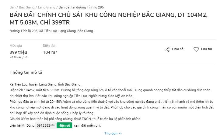 Giá đất ven khu công nghiệp Bắc Giang nóng dần sau các phiên đấu giá - Ảnh 3.