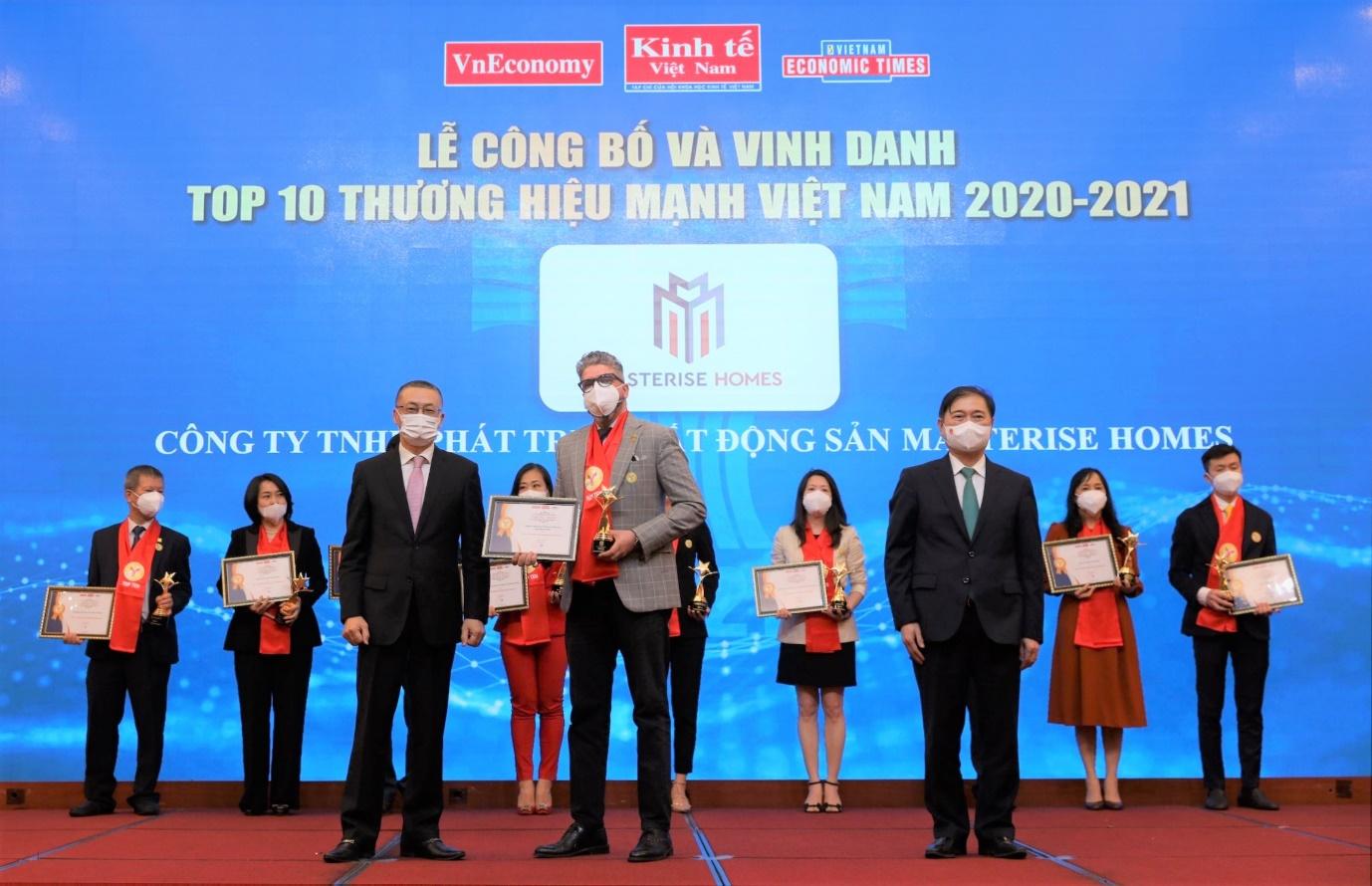 Masterise Homes vào Top 10 Thương hiệu mạnh Việt Nam 2021 ngay trong năm đầu tiên được đề cử - Ảnh 1.