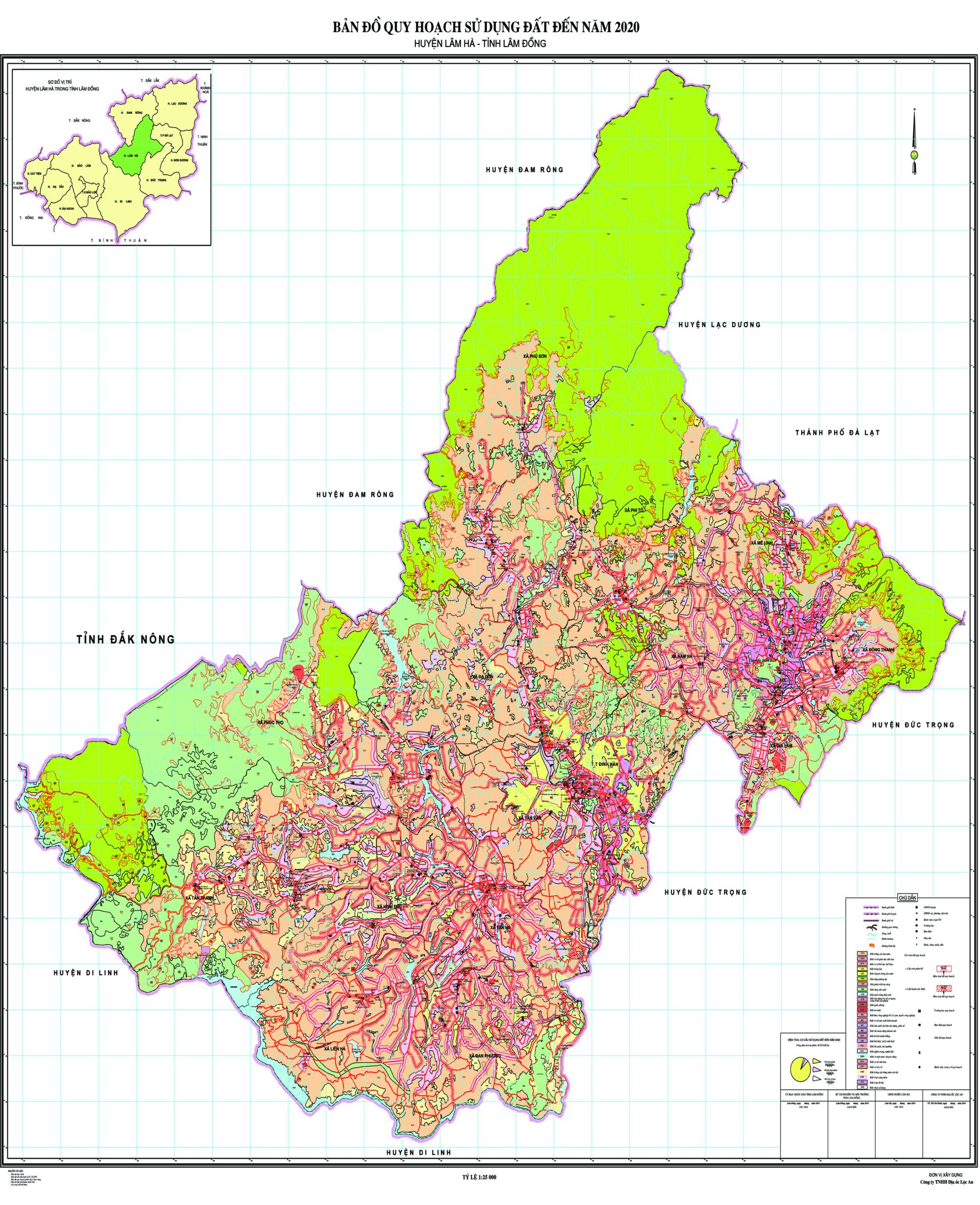 Bản đồ quy hoạch sử dụng đất huyện Lâm Hà, tỉnh Lâm Đồng  - Ảnh 2.