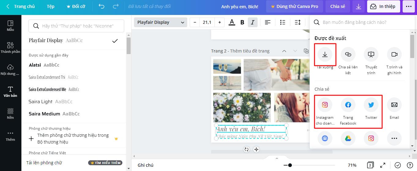 Hướng dẫn tạo thiệp và video chúc mừng 20/10 online ý nghĩa dành tặng phái nữ - Ảnh 9.