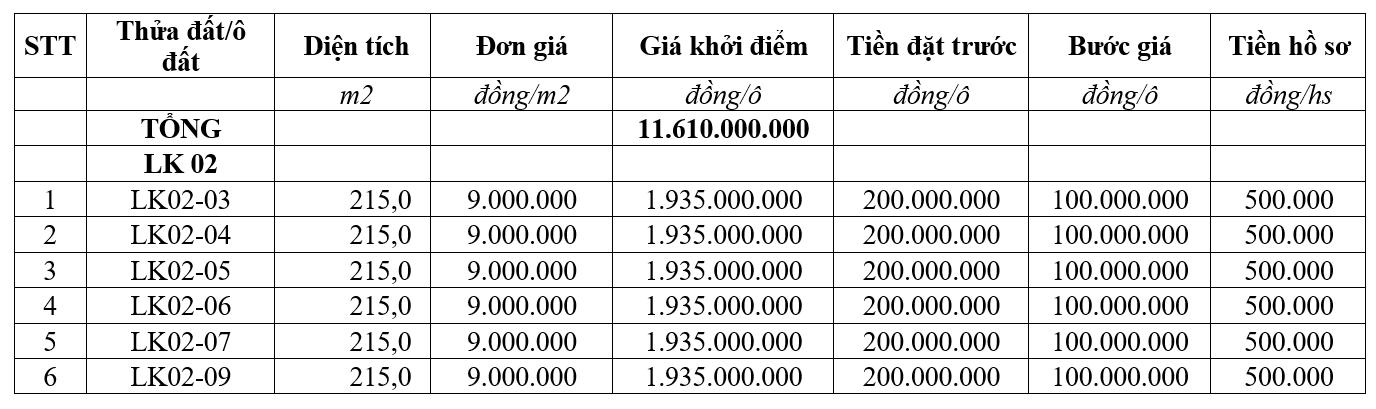 Thanh Thủy, Phú Thọ đấu giá 29 ô đất liền kề, khởi điểm từ 800 triệu đồng/ô - Ảnh 2.