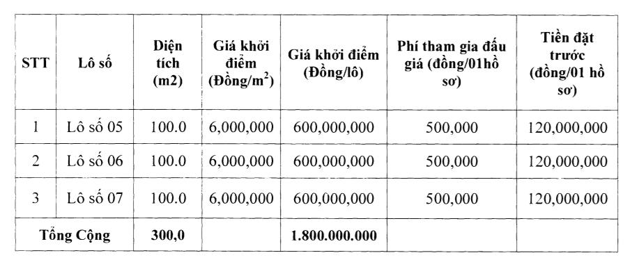 Thanh Hóa sắp đấu giá 16 lô đất tại huyện Thiệu Hóa, khởi điểm từ 312 triệu đồng/lô - Ảnh 1.