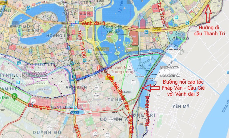 Bản đồ quy hoạch Phân khu H2-4 Hà Nội, quận Hai Bà Trưng, Hoàng Mai, Thanh Xuân và huyện Thanh Trì - Ảnh 1.