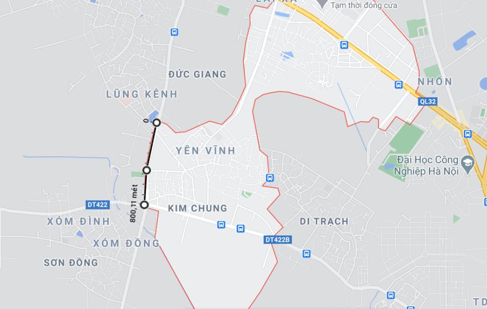 Giá đất đường Tỉnh lộ 422, xã Kim Chung, Hoài Đức, Hà Nội - Ảnh 1.