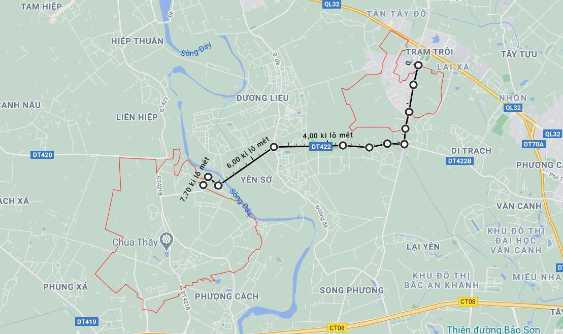 Giá đất đường Tỉnh lộ 442, Hoài Đức, Hà Nội - Ảnh 1.