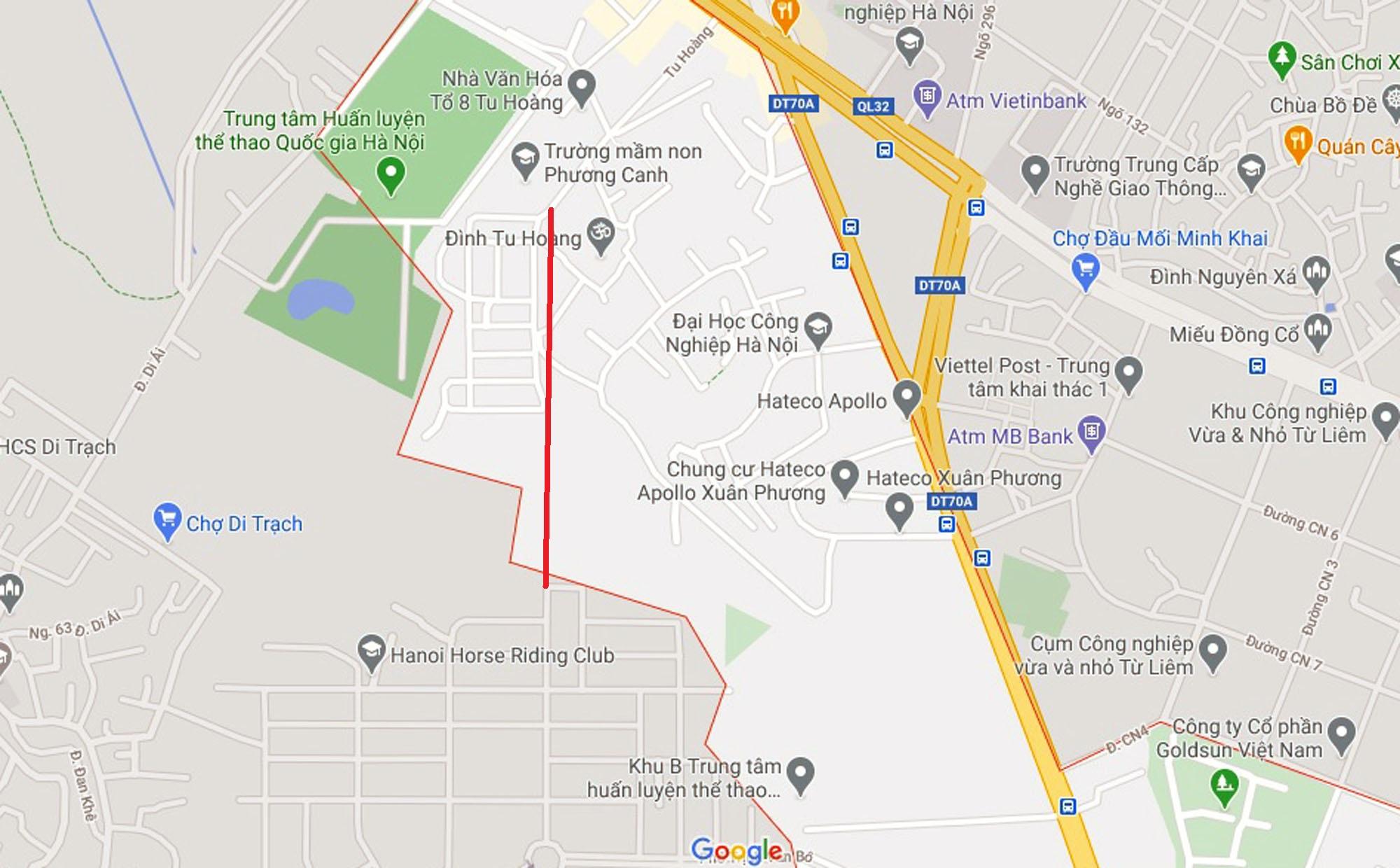 Ba đường sẽ mở theo qui hoạch ở phường Phương Canh, Nam Từ Liêm, Hà Nội (phần 2) - Ảnh 2.