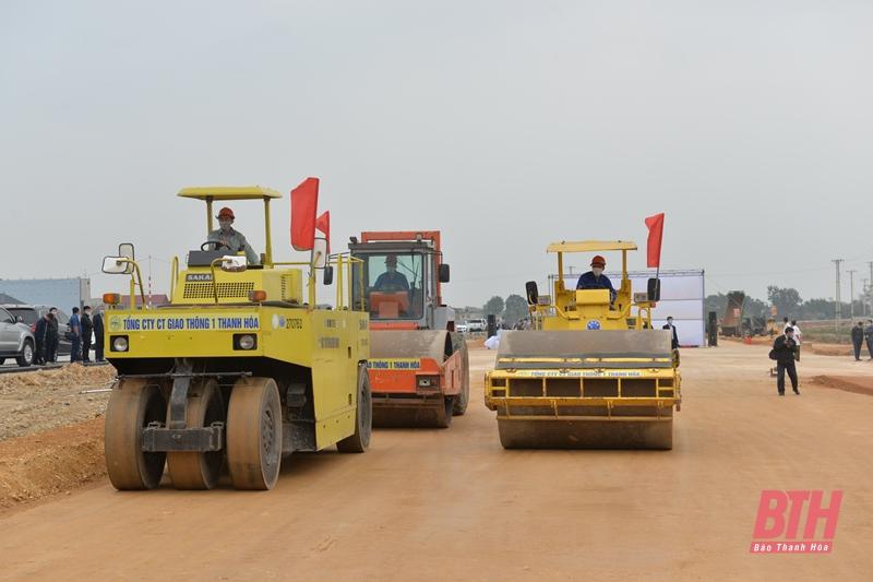 Ra quân làm đường nối TP Thanh Hóa với Sân bay Thọ Xuân - Ảnh 1.
