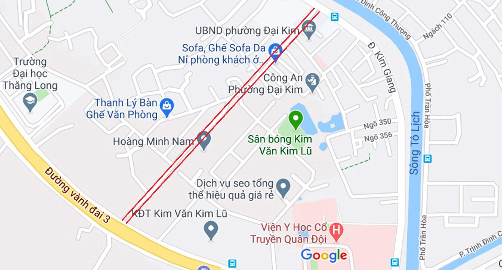 đường sẽ mở theo qui hoạch ở phường Đại Kim, Hoàng Mai, Hà Nội - Ảnh 2.