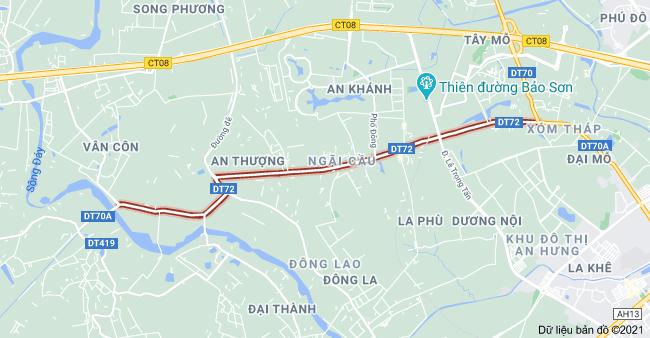 Giá đất đường Tỉnh lộ 72, Hoài Đức, Hà Nội - Ảnh 1.