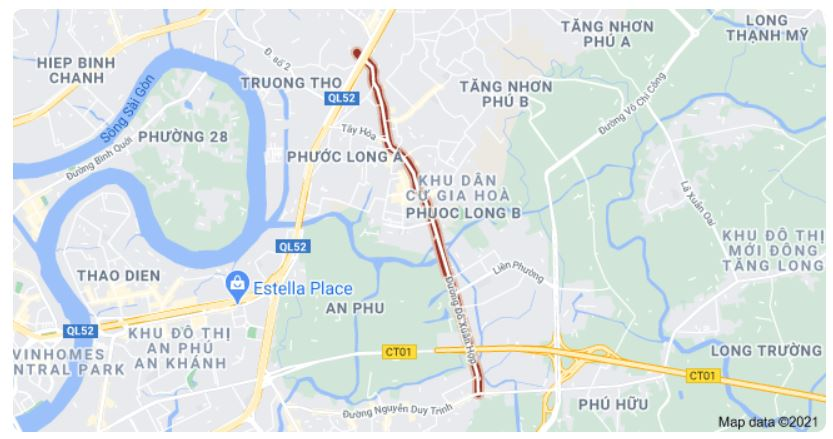 Giá đất đường Đỗ Xuân Hợp, TP Thủ Đức, TP HCM - Ảnh 1.