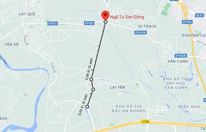 Giá đất đường Sơn Đồng – Song Phương, Hoài Đức, Hà Nội - Ảnh 1.