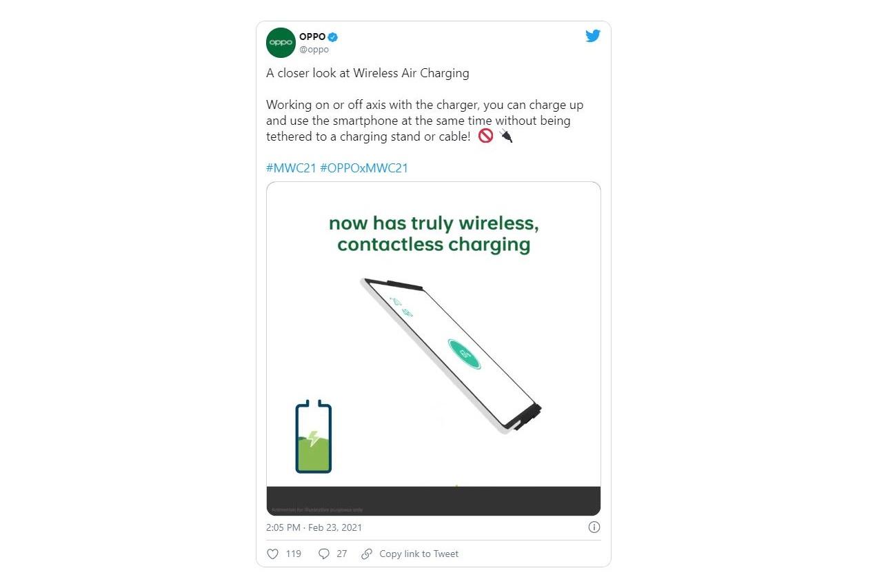 Oppo giới thiệu giải pháp sạc không dây mới hoạt động khi điện thoại cách đế sạc tới 10 cm (3,9 inch) - Ảnh 1.