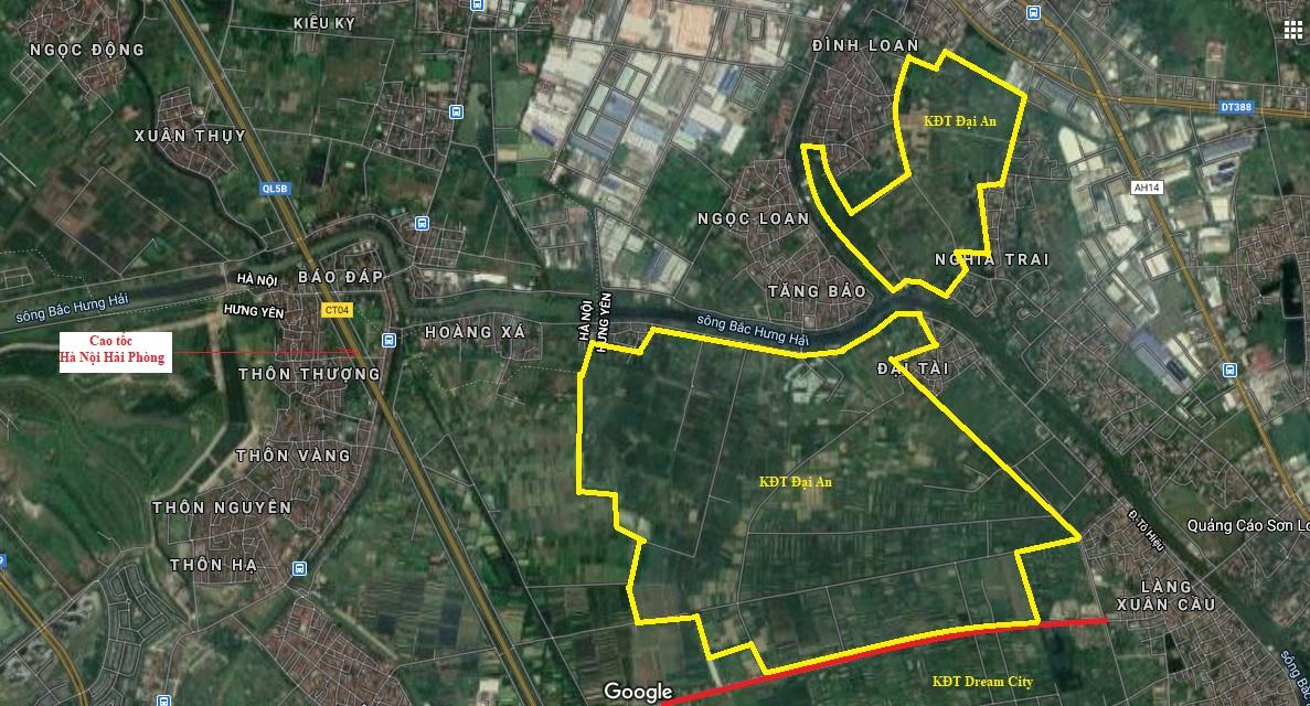 Vị trí chi tiết khu đô thị Đại An và Dream City của Vinhomes ở Hưng Yên theo quy hoạch - Ảnh 2.