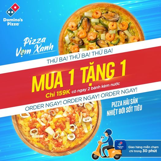 Khuyến mãi ăn uống tuần này (22/2-28/2): Sharetea ưu đãi tới 50%, Domino's Pizza 'mua 1 tặng 1'  - Ảnh 3.