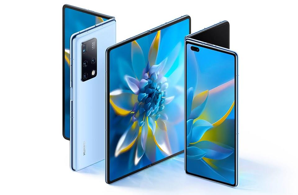Huawei Mate X2 thiết kế màn hình gập giống Z Fold2 - Ảnh 1.
