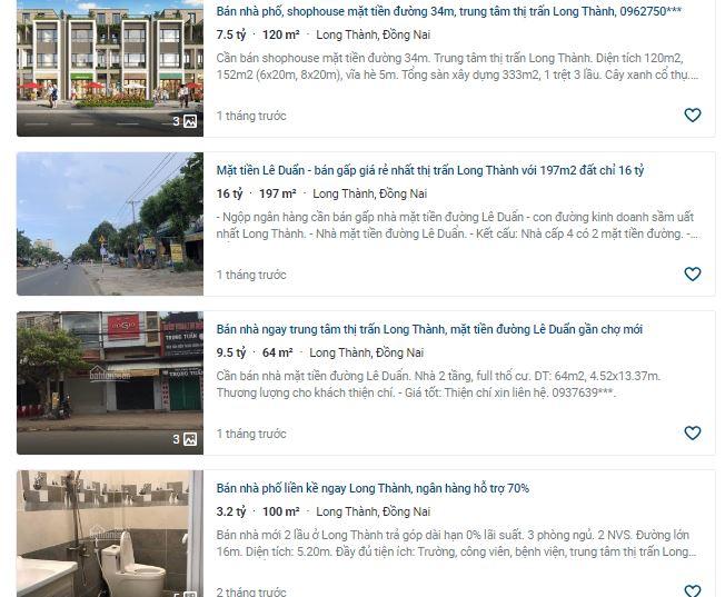 Giá đất ở tại đô thị đường Lê Duẩn, Long Thành, Đồng Nai - Ảnh 3.