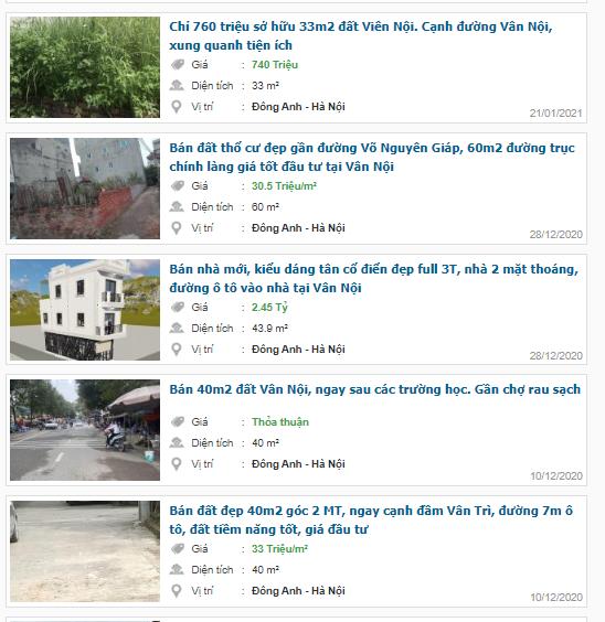Giá đất đường Vân Nội, Đông Anh, Hà Nội - Ảnh 4.
