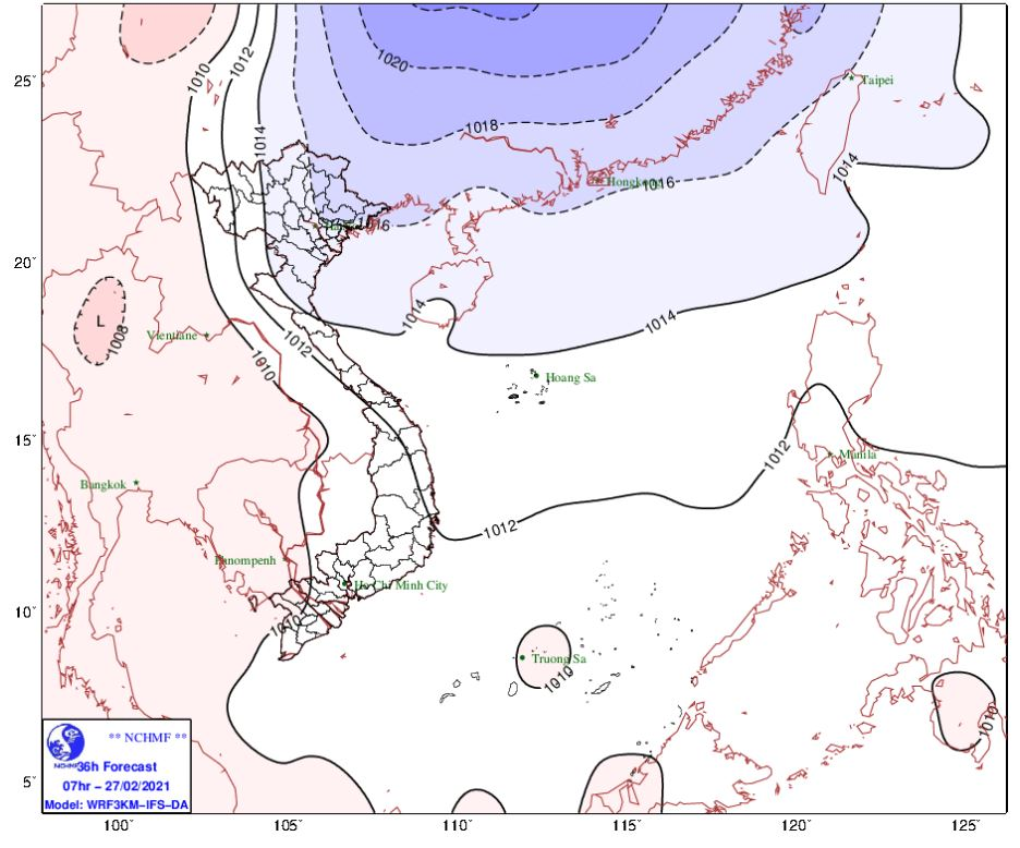 Thời tiết Hà Nội hôm nay 26/2: Đón không khí lạnh, trời chuyển mưa rét, Hải Phòng mưa phùn kèm sương mù - Ảnh 1.