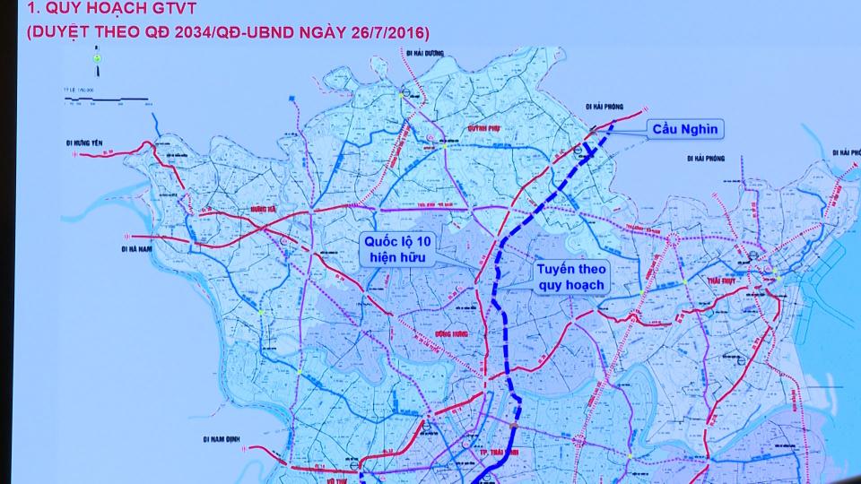 Khởi công tuyến đường bộ TP Thái Bình đi cầu Nghìn hơn 2.500 tỷ đồng - Ảnh 1.