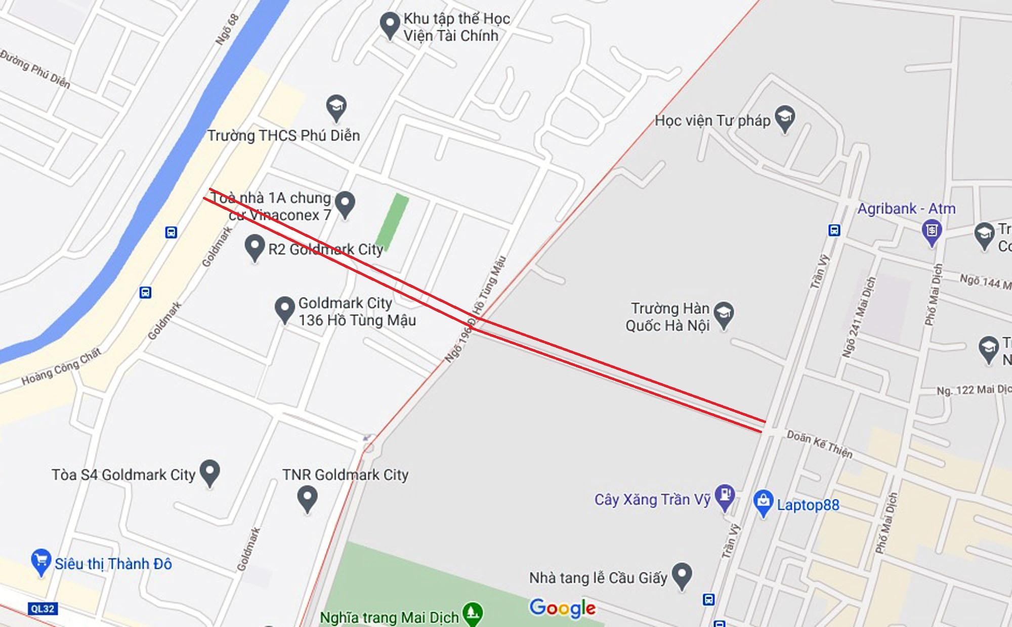 Ba đường sẽ mở theo qui hoạch ở phường Phú Diễn, Bắc Từ Liêm, Hà Nội (phần 2) - Ảnh 6.