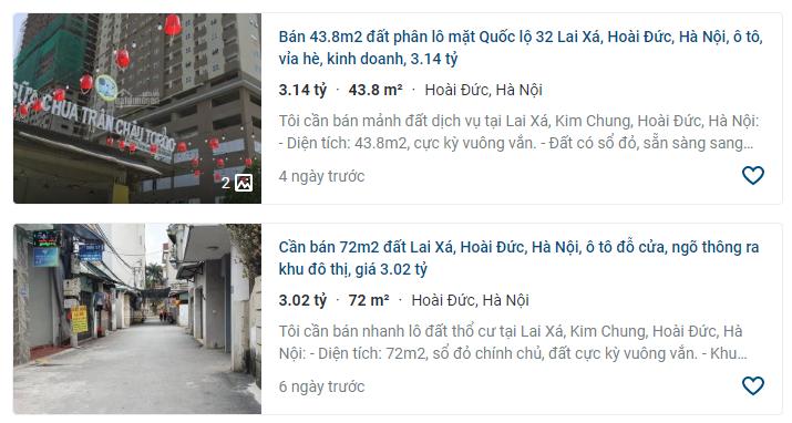 Giá đất Quốc lộ 32, xã Kim Chung, Hoài Đức, Hà Nội - Ảnh 3.