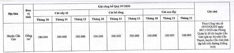 Giá cát xây dựng tại TP. Hồ Chí Minh mới nhất từ sở xây dựng quý IV/2020 - Ảnh 14.