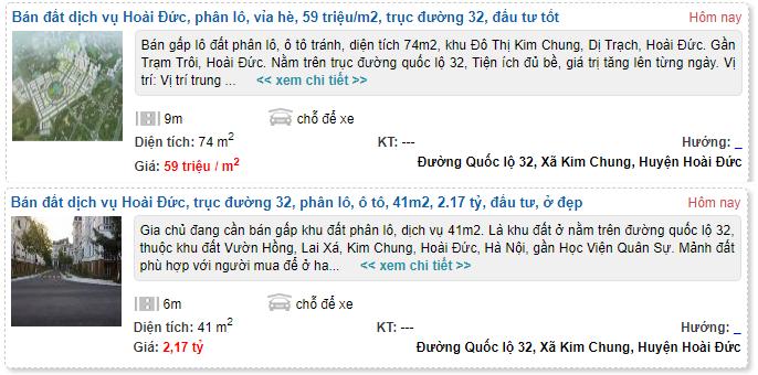 Giá đất Quốc lộ 32, xã Kim Chung, Hoài Đức, Hà Nội - Ảnh 4.