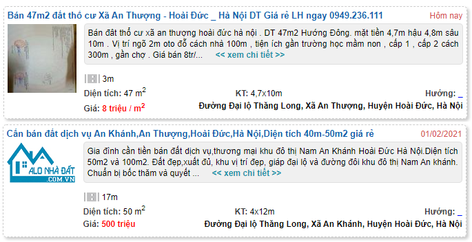 Giá đất Đại lộ Thăng Long, Hoài Đức, Hà Nội - Ảnh 4.
