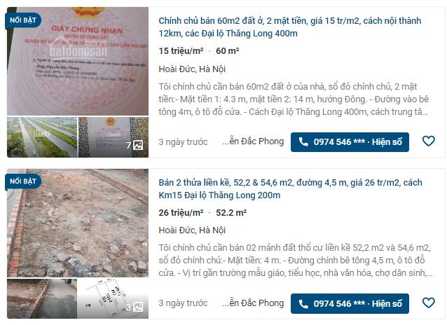 Giá đất Đại lộ Thăng Long, Hoài Đức, Hà Nội - Ảnh 3.