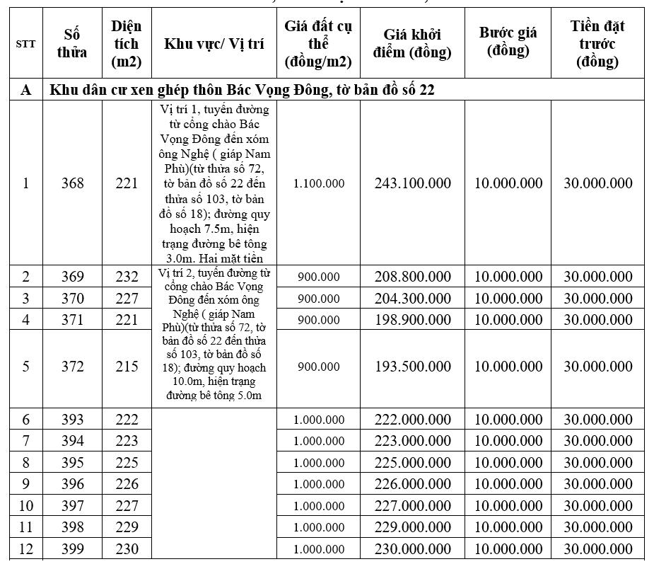 Đấu giá 20 lô đất tại huyện Quảng Điền, Thừa Thiên Huế - Ảnh 1.