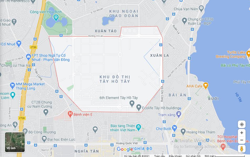 Giá đất Khu đô thị Tây Hồ Tây, Hà Nội - Ảnh 1.