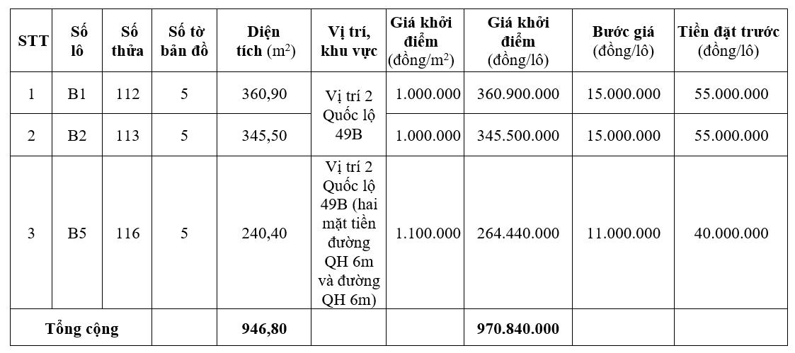Đấu giá 54 lô đất ở tại huyện Phong Điền, Thừa Thiên Huế - Ảnh 1.
