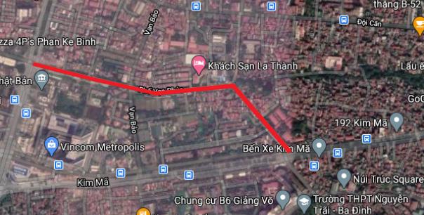 Đường sắp mở đoạn Vạn Bảo - Núi Trúc, Hà Nội - Ảnh 1.