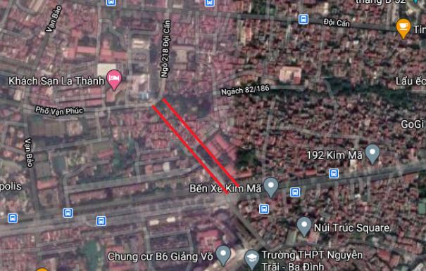 Đường sắp mở đoạn Vạn Bảo - Núi Trúc, Hà Nội - Ảnh 9.