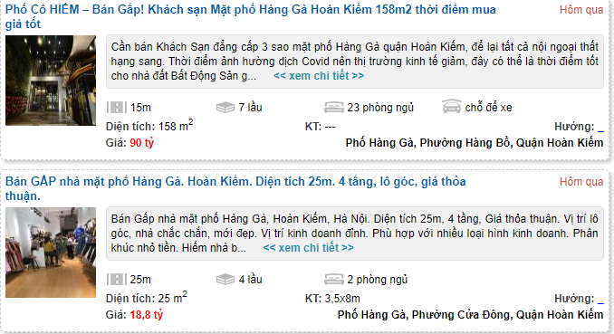 Giá đất phố Hàng Gà, Hoàn Kiếm, Hà Nội - Ảnh 4.