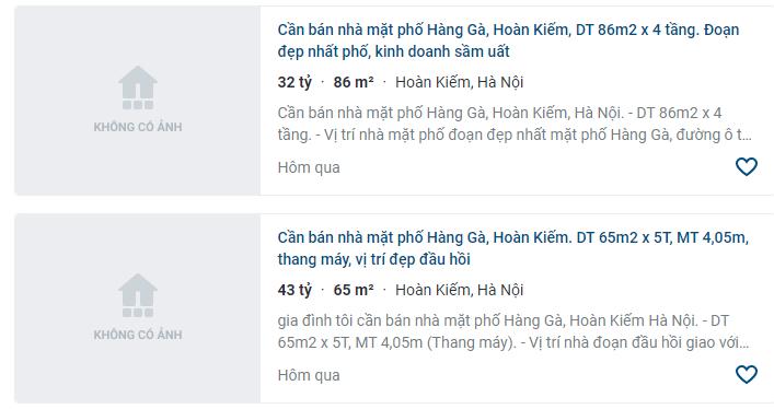 Giá đất phố Hàng Gà, Hoàn Kiếm, Hà Nội - Ảnh 3.