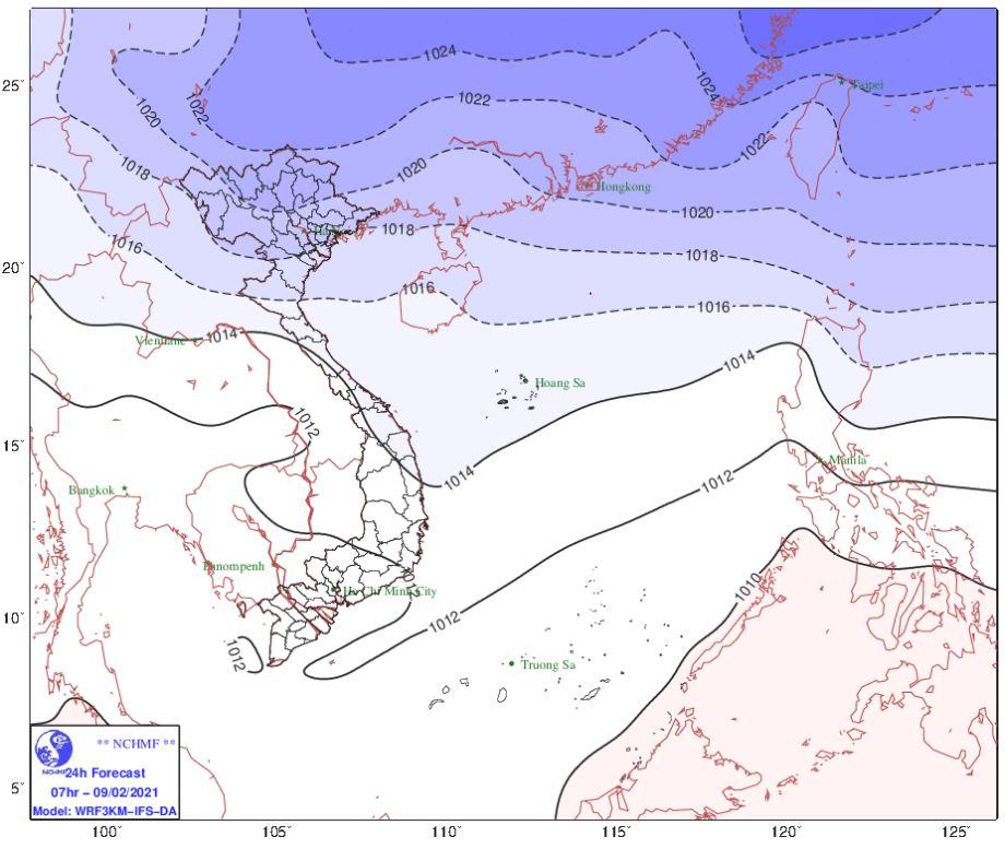 Thời tiết Hà Nội hôm nay 9/2: Không khí lạnh tiếp tục gây mưa to, trời chuyển rét với nhiệt độ thấp nhất 12-15 độ - Ảnh 2.