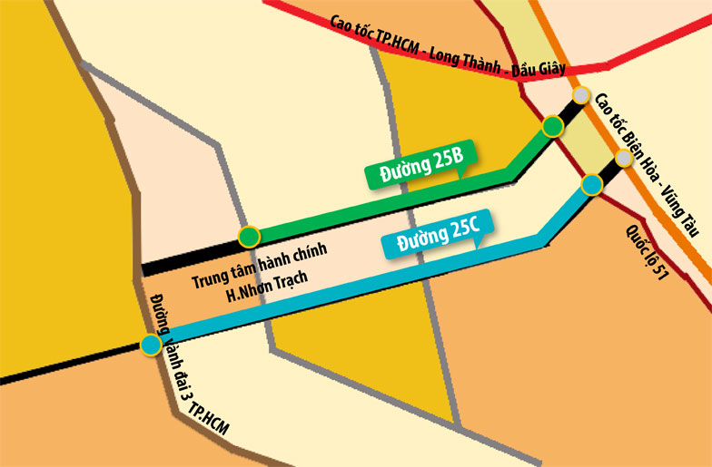 Đồng Nai chi 875 tỷ đồng xây dựng gần 5 km đường 25C, hoàn thiện hạ tầng giao thông Nhơn Trạch - Long Thành - Ảnh 1.