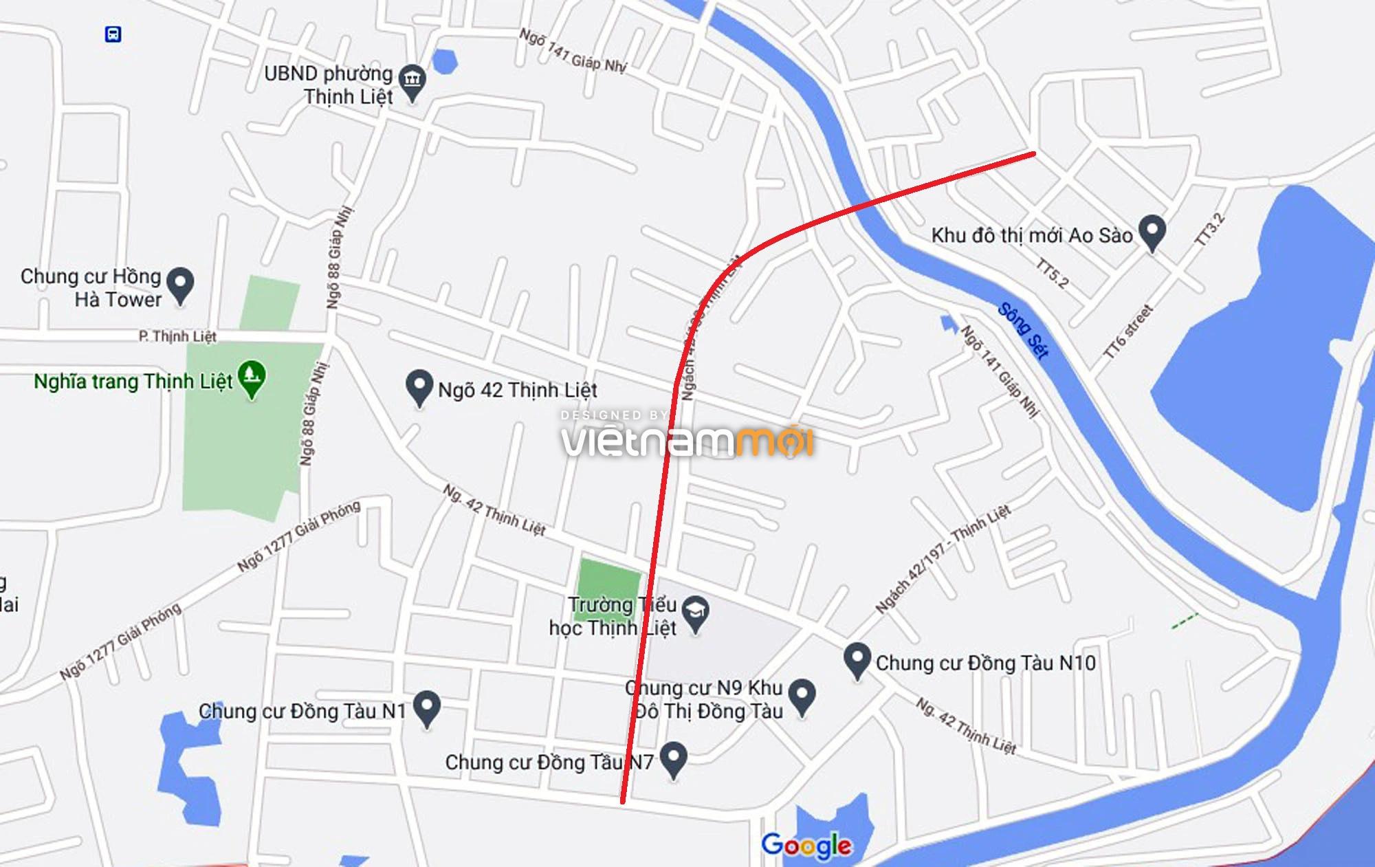 Đường sẽ mở theo quy hoạch ở phường Thịnh Liệt, Hoàng Mai, Hà Nội (phần 2) - Ảnh 2.