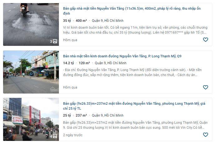 Giá đất đường Nguyễn Văn Tăng, TP Thủ Đức, TP HCM - Ảnh 4.