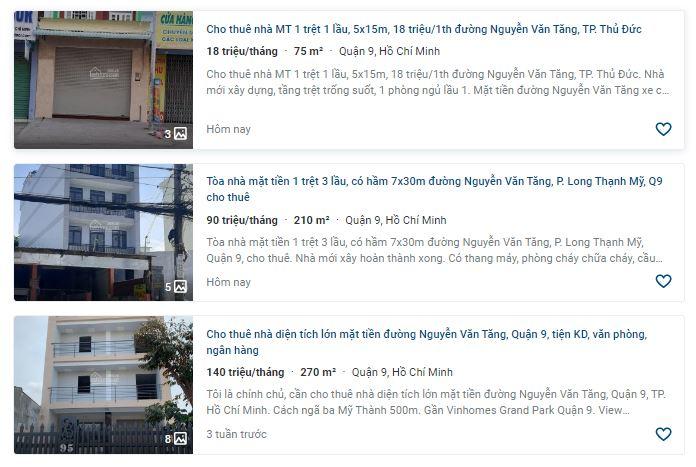 Giá đất đường Nguyễn Văn Tăng, TP Thủ Đức, TP HCM - Ảnh 5.