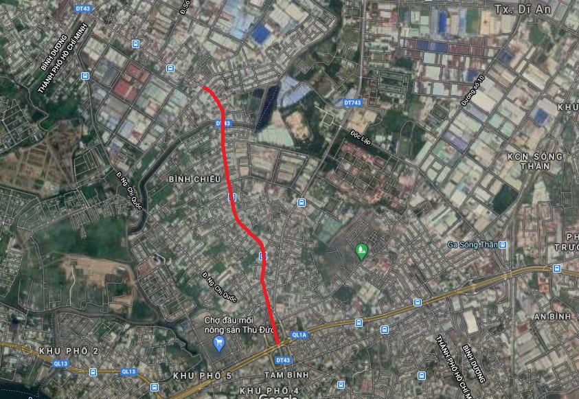 Cao tốc HCM - Thủ Dầu Một - Chơn Thành chạy qua TP Thủ Đức: Đoạn từ kênh Ba Bò đến xa lộ Hà Nội - Ảnh 3.