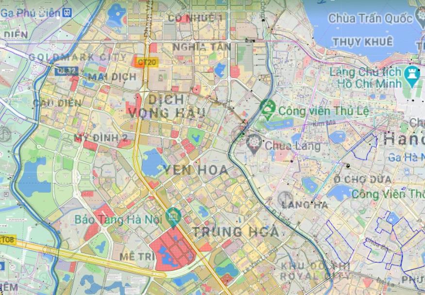 Bản đồ quy hoạch sử dụng đất quận Cầu Giấy - Ảnh 2.